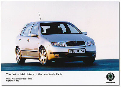 Skoda Fabia First Official Picture Press Release Photograph