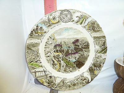 Arizona Scenic Plate , Made For Diamond's By Johnson Brothers In England