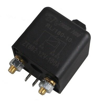 E Support Car Auto Heavy Duty Split Charge DC 12V 100A 100 AMP SPST Relay 4 P...