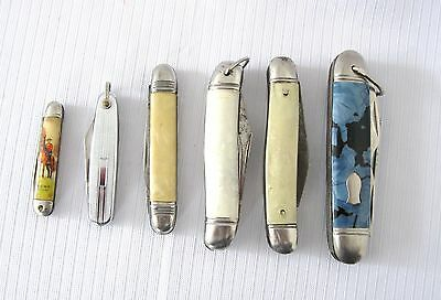 LOT OF SIX VINTAGE FOLDING POCKET KNIVES..BRITISH and GERMAN manufacture..