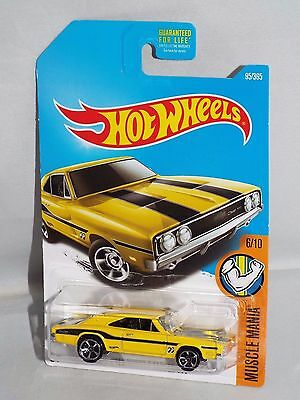 HOT WHEELS 2017 MUSCLE MANIA /'69 DODGE CHARGER 500 #8//10 YELLOW SHORT CARD