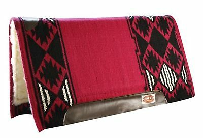 "Showman PINK 36 ""X 34"" 100% NEW ZEALAND WOOL Memory Felt Breathable Saddle Pad!"