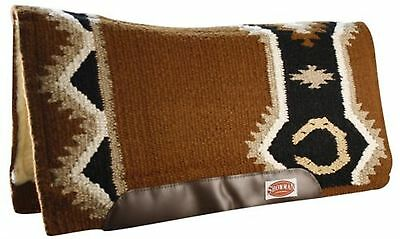 "BROWN 36"" x 34"" Contoured Pad New Zealand Wool Breathable Memory Felt Center!"