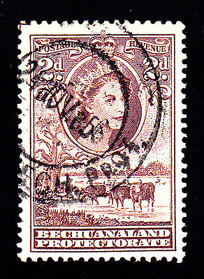 Bechuanaland # 156: Two Pence, Brown, Queen Elizabeth II. Used (CDS), Fine.