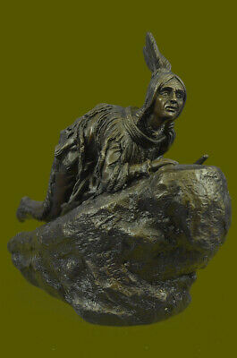 Large Vintage European Austrian Vienna Native American Kauba Bronze Hot Cast EG