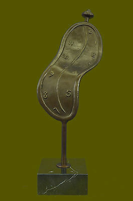 Abstract Modern Art Melting Clock By Salvador Dali Sculpture Statue Bronze EG