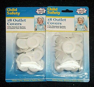NEW 36 Piece Safety Electric Outlet Plug Protector Cover Child Proof Shock Guard