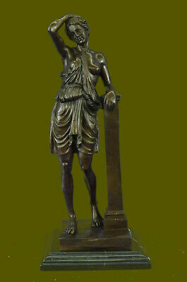Fraternity Toga Party Nude Greek Female Lady Bronze Sculpture Marble Statue EG