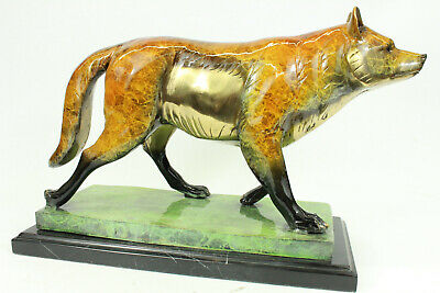 Game of Throne LTD Numbered Wolf Decor Bronze Sculpture Marble statue Figure EG