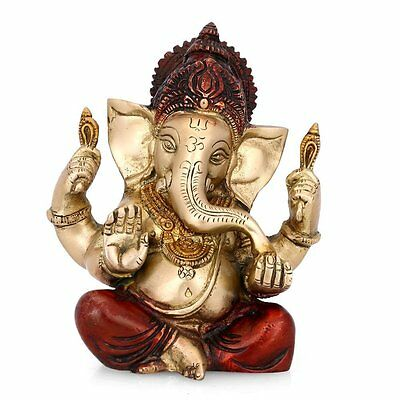 The Blessing Brass statue of Lord Ganesh Elephant Hindu God ganesha Sculpture