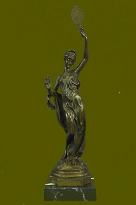 Ausrtia Vintage Pure Bronze Spelter Figure of Dancer Snake Charmer Hot Cast EG