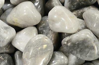 """Gray Agate Tumbled 2"""" 2 Oz Healing Crystals and Stones Root Chakra Reiki Gems"""