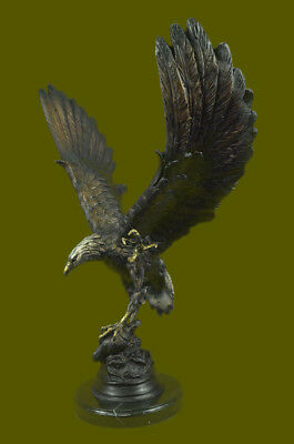 Vintage Detailed,American Eagle,Architectural Bronze Sculpture Statue Figure EG