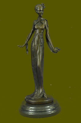 Bronze Sculpture Victorian Style Female Signed Real Kassin Hand Made StatueEG