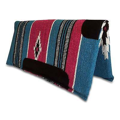 "Aqua Western/Stock Saddle Show Pad/Blanket - REMOVABLE PADDING - Navajo 30""x 30"""