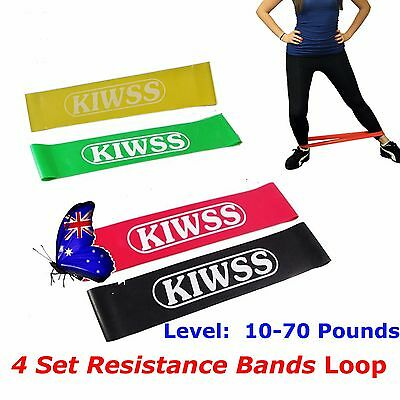 RESISTANCE BAND LOOP YOGA PILATES HOME GYM FITNESS EXERCISE WORKOUT TRAINING oz