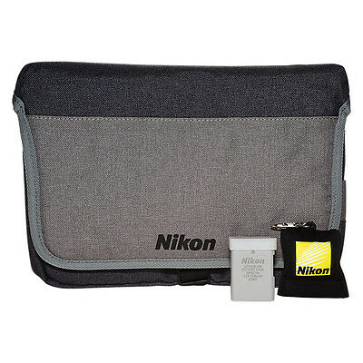 Brand New Nikon DSLR Accessory Kit With Carry Case,Lens Cleaning Cloth & Battery