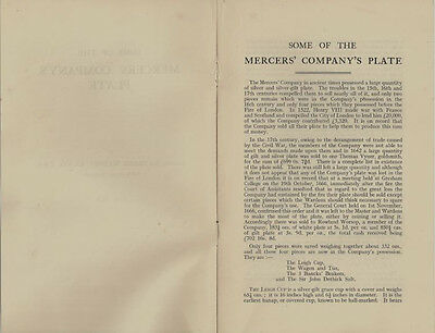 Antique English Silver in the Mercer's Company Collection - 1938 Booklet
