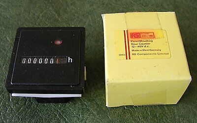 RS 12 - 48v D.C. low voltage elapsed hour meter counter