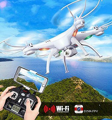 Drone Syma X5SW 4CH 2.4G 6-Axis Gyro Headless Con Soporte Movil Camara 360 3D