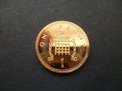 1987 Brilliant Uncirculated  One Pence Piece.1987 1P Coin Uncirculated Condition