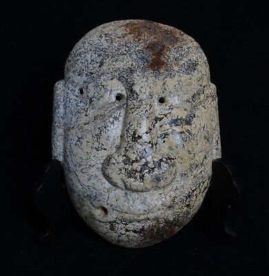 Chinese QiJia Culture Style Sacrificial Ceremony Big Jade Covering Mask-JR12687