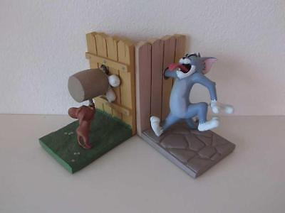Extremely Rare! Tom & Jerry Demons & Merveilles Bookends Figurine Statue Set