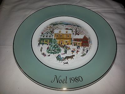 1980 Avon Christmas Series- Country Christmas Collector Plate