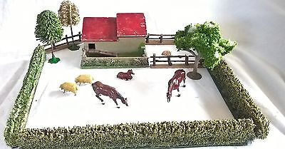 449:  O Gauge Railway Scenic lineside Farming Layout