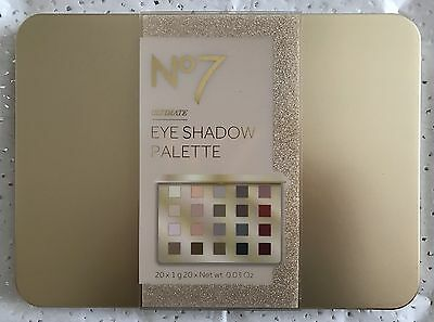 BOOTS No7 ULTIMATE EYE SHADOW PALETTE - 20 COLOUR EYE SHADOW COLLECTION GIFT SET