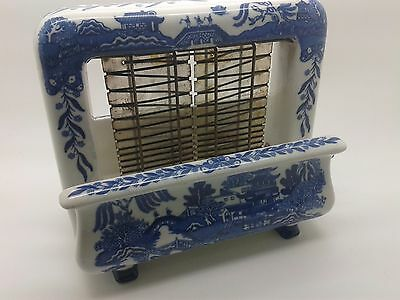 Extremely Rare Antique Vintage Toastrite Blue Willow Pottery Electric Toaster