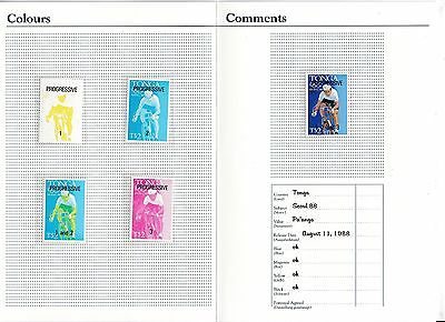 B08347 Tonga 1029 postfr./mnh PROGRESSIVE PROOF official folder Olympia Olympics