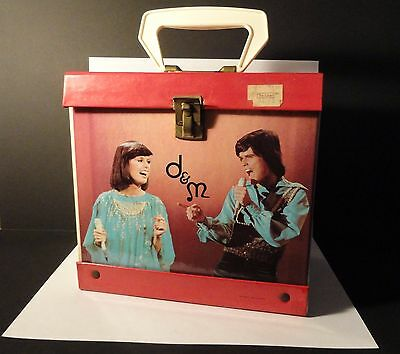 Vintage 1970's Donny & Marie Osmond - 45 Record Case/Tote