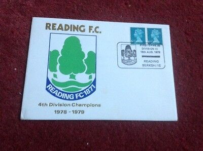1979 Reading Football Club First Day Cover 4th Division Champions With Insert