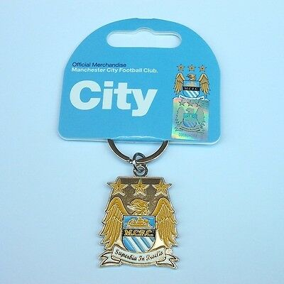 Official Manchester City Football Club Crest Metal Keyring