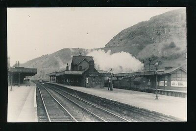 Derbyshire MILLERS DALE RAILWAY station interior 1948 photograph 138x88mm