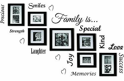 Family Is  Word Cloud Quote Vinyl Wall Art Stickers Mural Decal Home Decor DIY
