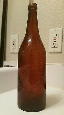 John Smith Sons Youngstown Ohio Amber Quart Blob Beer