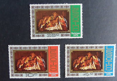 Lesotho 1972 Christmas SG227/9 MNH UM unmounted mint