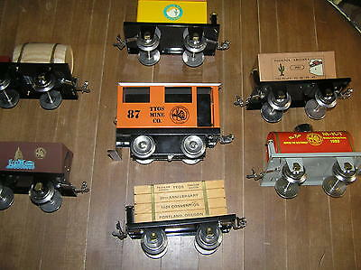Richart Standard Scale Ttos Convention Mine Loco & 7 Cars Mint