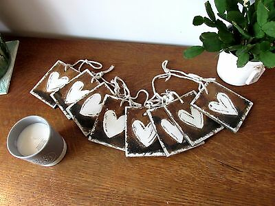 New Bunting Wooden Hanging Love Hearts Garland Shabby Chic Rustic