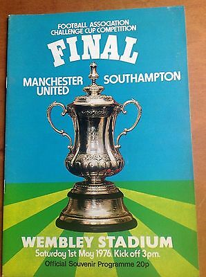 FA Cup Final 1976 Manchester United v Southampton programme