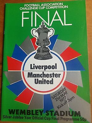 FA CUP FINAL 1977 Liverpool v Manchester United programme