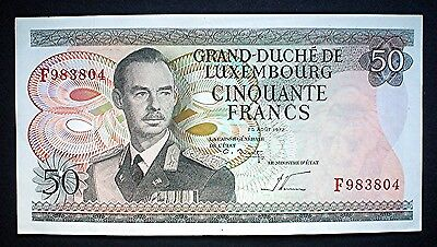 LUXEMBOURG ~ 50 FRANCS 1972 v/f+.