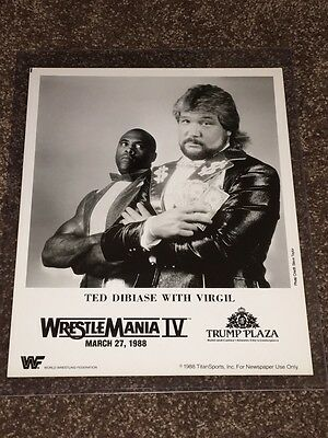 WWF WWE Million Dollar Man Ted Dibiase Wrestlemania 4 Press Promo Photo 1988
