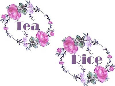 SoFT FLoRaL WReaTH SHaBbY CaNisTeR LaBeLs WaTerSLiDe DeCALs