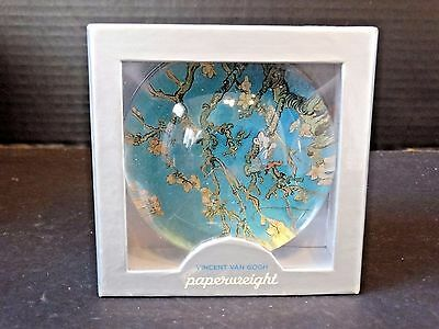 Galison Solid Glass Dome Paperweight ~ Vincent Van Gogh Branch Almond Bloom NIB