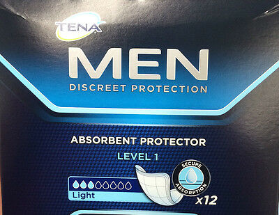 12x Tena Men Discreet Protection