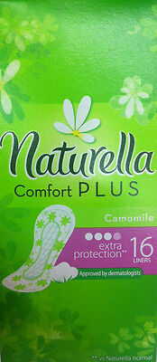 16x pads/liners Naturella comfort plus extra protection - camomile!