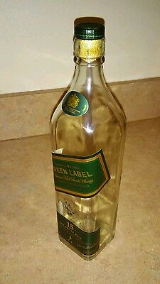 Johnnie Walker, Liquor Bottle, Green Label, Empty